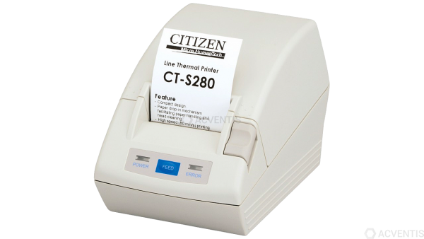 CITIZEN CT-S280, RS-232, 8 Punkte/mm (203dpi), weiß | CTS280RSEWH