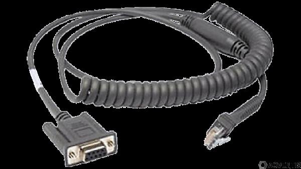 ZEBRA Verbindungskabel, RS232, 2,8m, gedreht | CBA-R46-C09ZBR