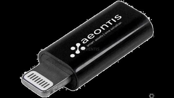 AEONTIS Daten-/Lade-Adapter Lightning 8-Pin auf Micro USB, schwarz   AEO-USBUBLTADPB