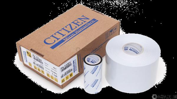CITIZEN P4-12301 Shelf-Pack, Etikettenrolle, Farbband, Kunststoff, Harz, 70 x 38mm, silber | P4-1230