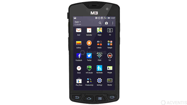 M3 MOBILE SM15 N, 2D, SE4710, BT (BLE), WLAN, 4G, NFC, GPS, erw. Akku, Android | S15N4C-12CHSE-HF