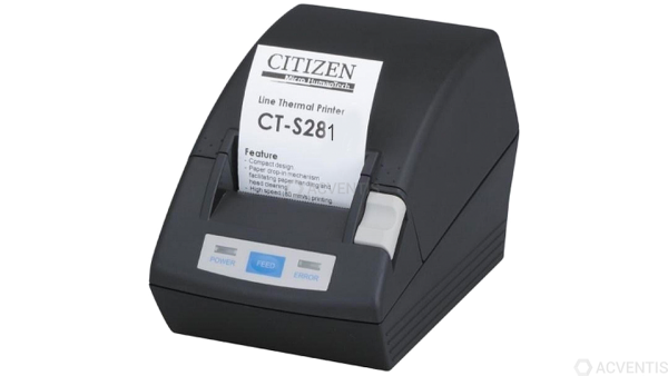 CITIZEN CT-S281, USB, 8 Punkte/mm (203dpi), Cutter, schwarz | CTS281UBEBK