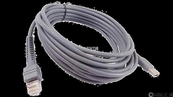 ZEBRA Verbindungskabel, USB, Länge: 4.5 m, glatt | CBA-U10-S15ZAR