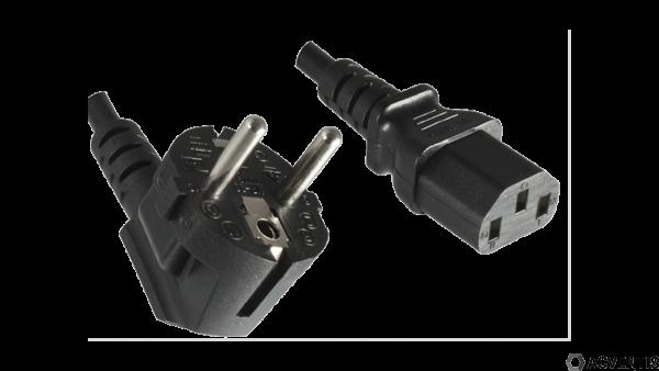 AEONTIS Netzkabel (Kaltgerätekabel) C13, EU YP-22/YC-12, 0,75mm², VDE, 1,8m |AEO-8AC-013-18