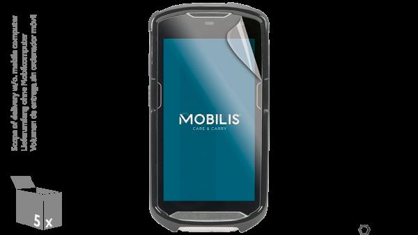MOBILIS Displayschutzfolie für Zebra TC51 / TC56, IK06, 5 Stk. | 690R-PRO-IK6C-TC51-D