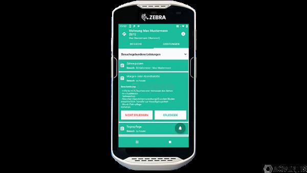 ZEBRA TC52-HC (Healthcare), 2D, BT, WLAN, NFC, GMS, Android | TC520K-1HEZU4P-A6