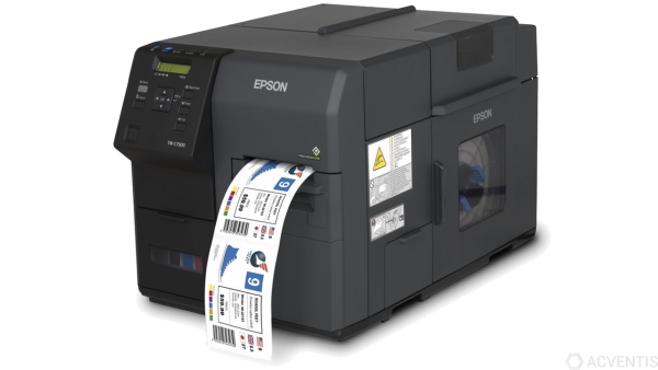 EPSON ColorWorks C7500, Cutter, Disp., USB, Ethernet, schwarz