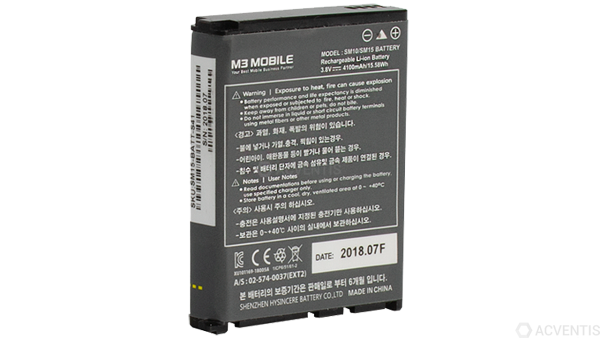 M3 MOBILE Akku für SM15, Standard, 4100mAh | SM15-BATT-S41