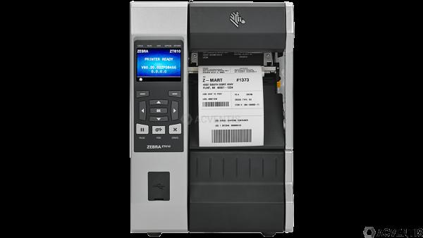 ZEBRA ZT610, 24 Punkte/mm (600dpi), Peeler, Rewind, Disp. (Farbe), RTC, ZPL, ZPLII, USB, RS-232, BT,