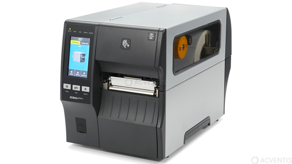 ZEBRA ZT411, 12 Punkte/mm (300dpi), Peeler, Disp. (Farbe), RTC, EPL, ZPL, ZPLII, USB, RS-232, BT, Et