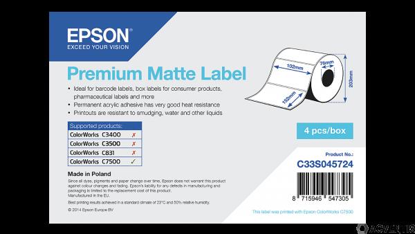 Epson Etikettenrolle, Normalpapier, 102x152mm, für C7500