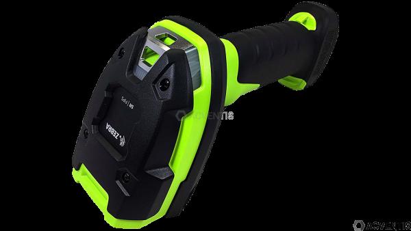 ZEBRA Handscanner LI3678-ER, BT, 1D, ER, Multi-IF, FIPS, Kit (USB), schwarz, grün   LI3678-ER3U42A0S