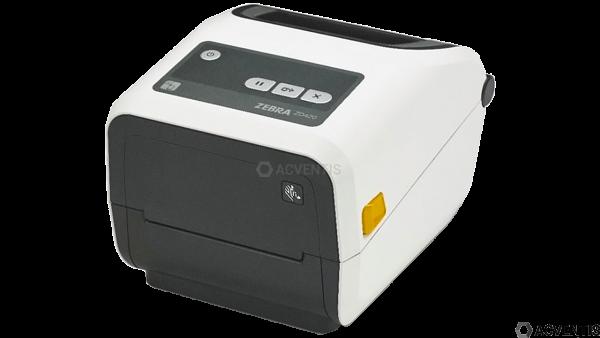 ZEBRA ZD420t Healthcare, 12 Punkte/mm (300dpi), VS, RTC, EPLII, ZPLII, USB, BT, WLAN, weiß | ZD42H43
