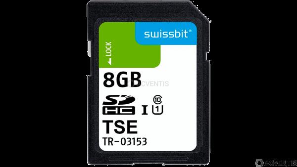SWISSBIT TSE, SD-Karte, 8 GB, Einzelblister | SFSD8192L3PM1TO-E-GE-C31-JA0