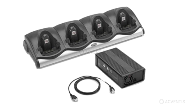ZEBRA Lade-/Übertragungsstation für MC93 / MC92 / MC91, 4-Fach, Ethernet, Kit | CRD9101-411EES