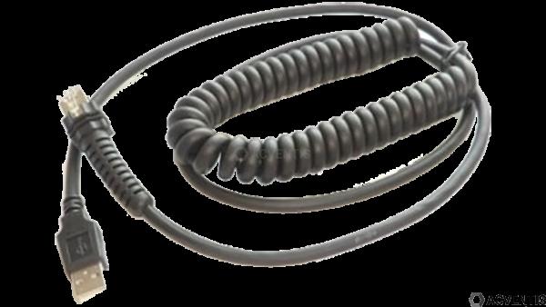 DATALOGIC Verbindungskabel, USB, gedreht, 2.5m   CAB-524