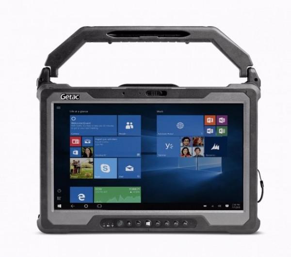 Getac A140 LTE, Hard Handle, USB, RS232, BT, Ethernet, WLAN, 4G, GPS, Win. 10 Pro, schwarz