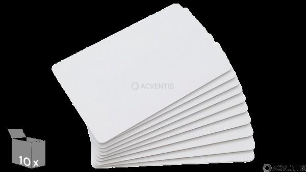 AEONTIS Plastikkarten, blanko, weiß, 10 Stück | AEO-JT-061-10