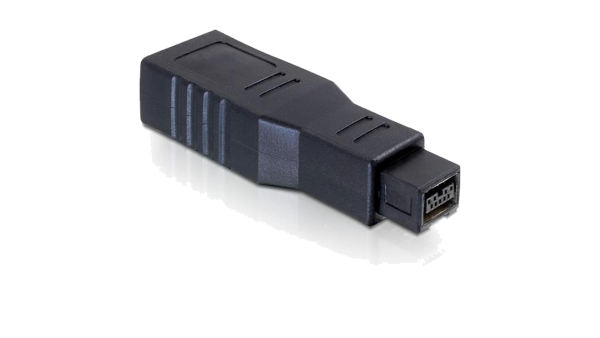 Adapter FireWire 9-Pin-Stecker auf 6-Pin-Buchse