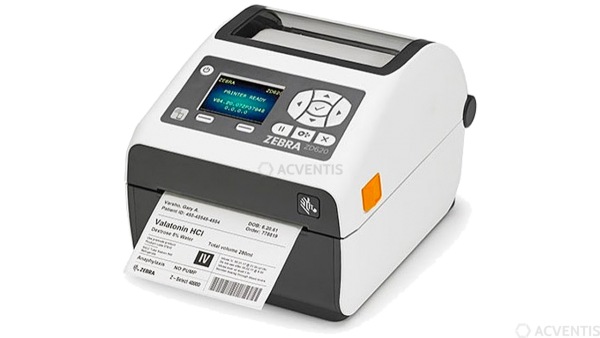 ZEBRA ZD620d Healthcare, 12 Punkte/mm (300dpi), Cutter, RTC, Display, EPLII, ZPLII, USB, RS232, BT,
