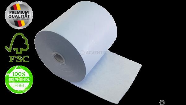 BLUE4EST Bonrolle, Thermopapier, 57mm, Longlife, EC-Cash, hellblau | 55057-10014
