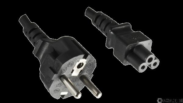 AEONTIS Netzkabel C5, YP-23/YC-14, 0,75mm², VDE, 1,8m, schwarz | AEO-8AC-023-18