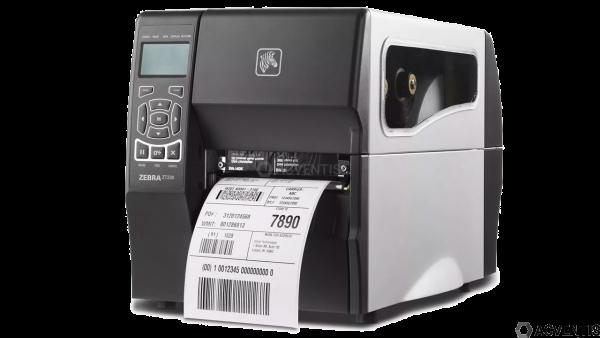 ZEBRA ZT230, 12 Punkte/mm (300dpi), Peeler, Display, ZPLII, USB, RS232 | ZT23043-T1E000FZ