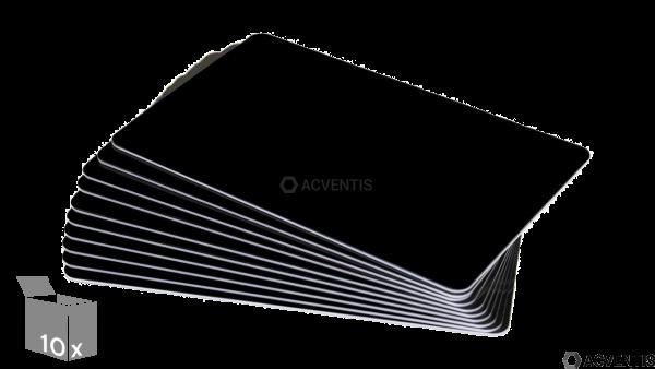 AEONTIS Plastikkarte, 15mil, schwarz, 10 Stück | AEO-C15SW-10