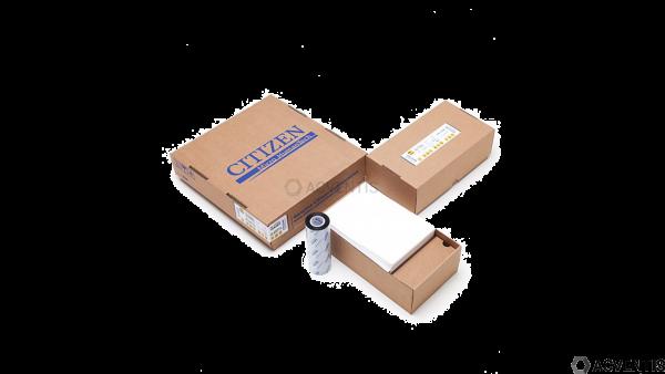 CITIZEN Palletten-Pack - Etiketten 148x210mm DIN A5/NVE, glossy, Farbband, Wachs/Harz   P4-17205
