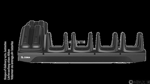 ZEBRA Ladestation für MC2200 / MC2700, 4+4-Fach   CRD-MC2X-4SC4BC-01