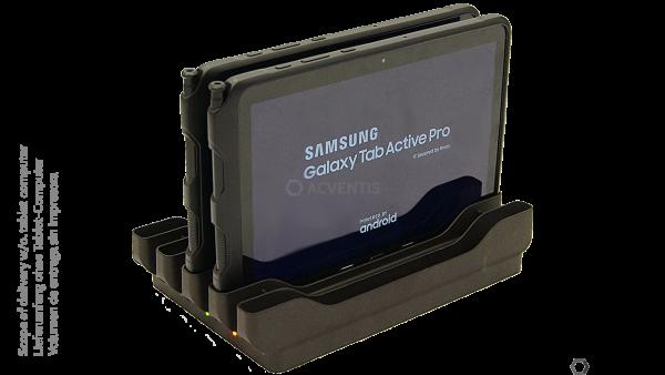 PORTSMITH Ladestation für Samsung Galaxy Tab Active Pro, 5-Fach | PSPE5GTA