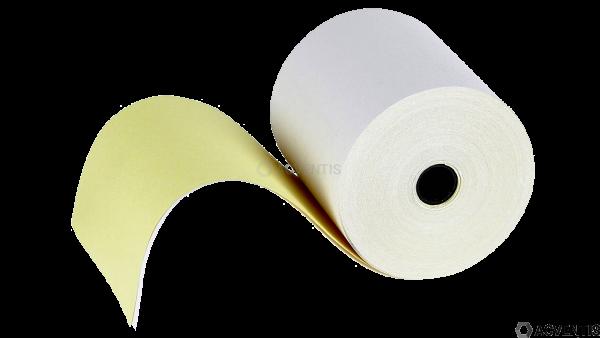AEONTIS Bonrolle, Normalpapier (mit Durchschlag), 76mm, weiß, gelb | AEO-65076-20210
