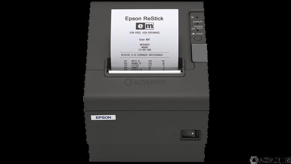Epson TM-T88IV ReStick, RS232, 80/72mm, 8 Punkte/mm (203dpi), Cutter, schwarz | C31C636366