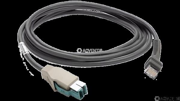 ZEBRA Verbindungskabel, powered USB, Länge: 2.1 m | CBA-U03-S07ZAR