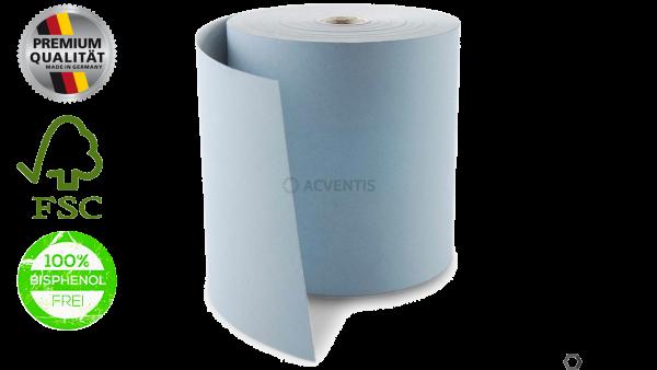 BLUE4EST Bonrolle, Thermopapier, 57mm, Longlife, hellblau | 56157-10057