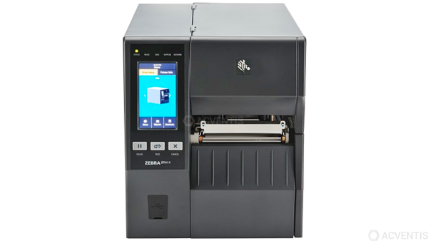 ZEBRA ZT411, 24 Punkte/mm (600dpi), Peeler, Rewinder, Disp. (Farbe), RTC, EPL, ZPL, ZPLII, USB, RS-2