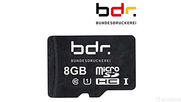 BUNDESDRUCKEREI TSE Modul, microSD, 8 GB, 5 Jahre | BDR-TSE-Modul
