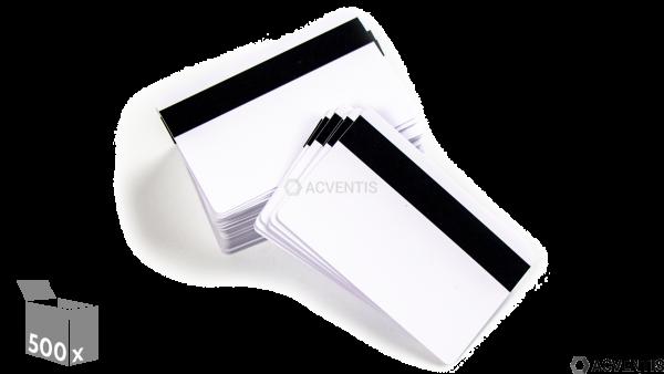ZEBRA Plastikkarte, 30mil, weiß, Magnetstreifen, 500 Stück | 104523-112
