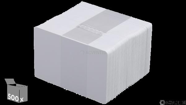 EVOLIS Plastikkarten, blanko, 30mil, weiß, 500 Stück | C4001